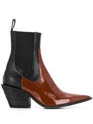 Haider Ackermann Leather Ankle Boots Black