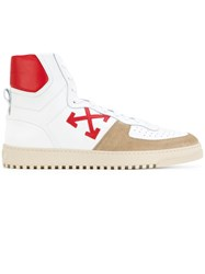 Off White 70'S High Top Sneakers Men Leather Rubber 40 White