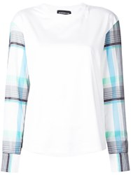Sportmax Contrasting Sleeve Blouse White