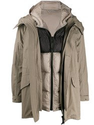 Yves Salomon Layered Hooded Coat 60