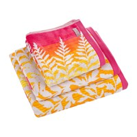 Clarissa Hulse Filix Towel Coral Pink Orange