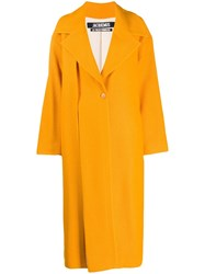 Jacquemus Le Manteau Quito Maxi Coat Orange