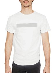 Cult Of Individuality Scoop Bottom Cotton Tee White