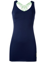 Sapopa Embroidered Back Tank Top Blue