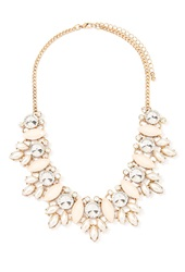 Forever 21 Faux Pearl Statement Necklace Antic Gold Cream