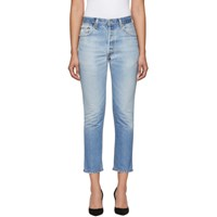Re Done Indigo Levi's Edition High Rise Ankle Crop Jeans