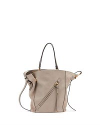 Chloe Myer Medium Leather And Suede Tote Bag Motty Gray Motty Grey