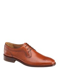 Johnston And Murphy Boydstun Lace Up Leather Oxfords Tan