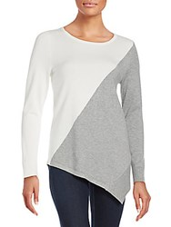 Calvin Klein Two Tone Pullover Winter White Grey