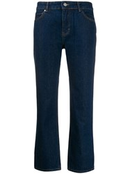 Victoria Beckham High Rise Cropped Kick Flare Jeans 60