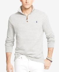 Polo Ralph Lauren Big And Tall Striped French Rib Half Zip Pullover