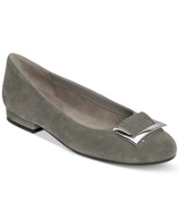 Aerosoles Good Times Flats Women's Shoes Dark Gray Suede
