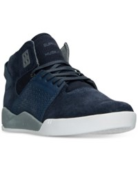 Supra Men's Skytop Ii High Top Casual Sneakers From Finish Line Navy White Grey