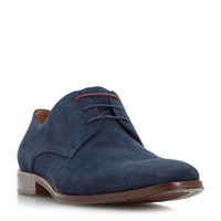 Dune Richmonds Square Toe Oxford Shoe Navy