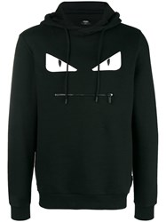 Fendi Embellished Bag Bugs Hoodie Black