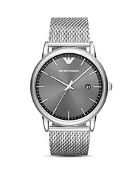 Emporio Armani Three Hand Stainless Steel Watch 43 Mm No Color