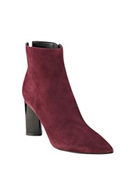 Kendall Kylie Gemma Suede Ankle Boots Burgundy