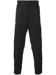 Ziggy Chen Side Stripe Trousers Black