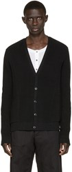 Balmain Black Cotton Cardigan