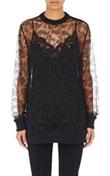 Givenchy Women's Lace Sweatshirt Black