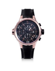 Lancaster Watches Space Shuttle Rose Gold Pvd Stainless Steel Chronograph Watch
