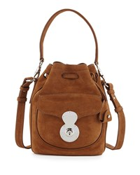 Ricky Small Suede Bucket Bag Caramel Women's Ralph Lauren