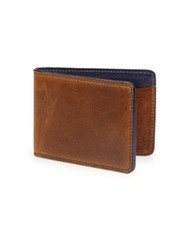 Miansai Leather Billfold Wallet Vintage Cognac