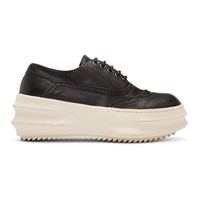 D.Gnak By Kang.D Black And White Curved Wingtip Sneakers