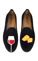 Del Toro M'o Exclusive Cheese And Wine Slipper Black