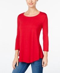 Jm Collection Scoop Neck Top Only At Macy's New Red Amore