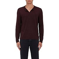 John Varvatos Star U.S.A. Men's Eyelet Detail Jersey Henley Red