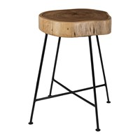 Amara Tree Slice Stool Straight Legs