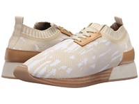 M4d3 Terry Ivory Stretch Fabric Women's Lace Up Casual Shoes Beige