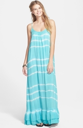 Rip Curl 'Beach Dreamer' Tie Dye Maxi Dress Juniors Aqua