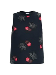 A.L.C. Harvey African Floral Print Silk Top