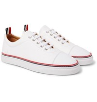 Thom Browne Pebble Grain Leather Sneakers White