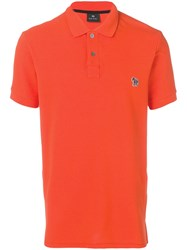 Paul Smith Ps By Zebra Patch Polo Shirt Orange
