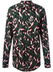 Marni Printed Button Down Shirt Green