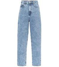 Etoile Isabel Marant Corsy High Rise Straight Jeans Blue