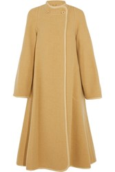 Chloe Wool Blend Coat Pastel Yellow