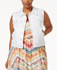 American Rag Plus Size One White Wash Denim Vest Only At Macy's