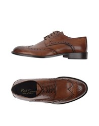 Red Carpet Lace Up Shoes Brown