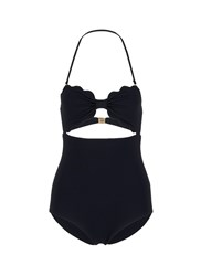 Marysia 'Antibes' Cutout Bow Bandeau Maillot Black