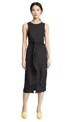 Evidnt Tie Front Dress Black