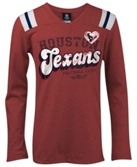 5Th And Ocean Girls' Houston Texans Tri Blend T Shirt