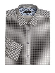 Sand Regular Fit Patterned Dress Shirt Blue
