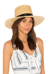 Janessa Leone Ruth Boater Hat Tan