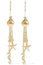Zimmermann Tropical Charm Gold Plated Earrings One Size