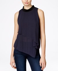 Rachel Rachel Roy Sleeveless Overlay Detail Top Black
