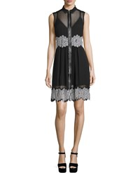 Mcq By Alexander Mcqueen Mcq Alexander Mcqueen Sleeveless Collared Silk Dress Black Size 42